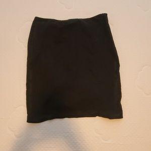 New York & Company knee high black pleated skirt